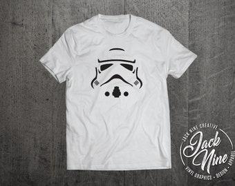 Stormtrooper Star Wars David Bowie Woman White 3//4 Short Sleeve Cotton T Shirt