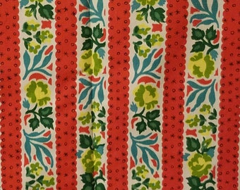 Vintage 1950s dress weight cotton/rayon fabric yardage 3 yards