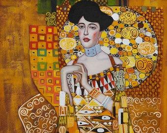 ORIGINAL design, durable and WASHABLE PLACEMAT - Gustav Klimt Portrait of Adele Bloch-Bauer - classic.