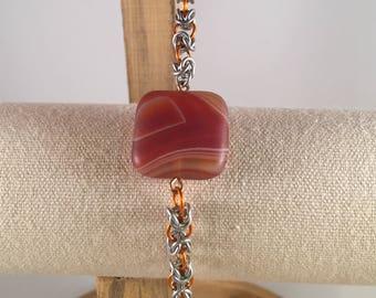 Agate & Byzantine Bracelet