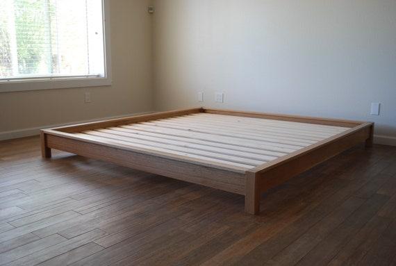 Ultra Low Platform Bed In Quartersawn White Oak Etsy