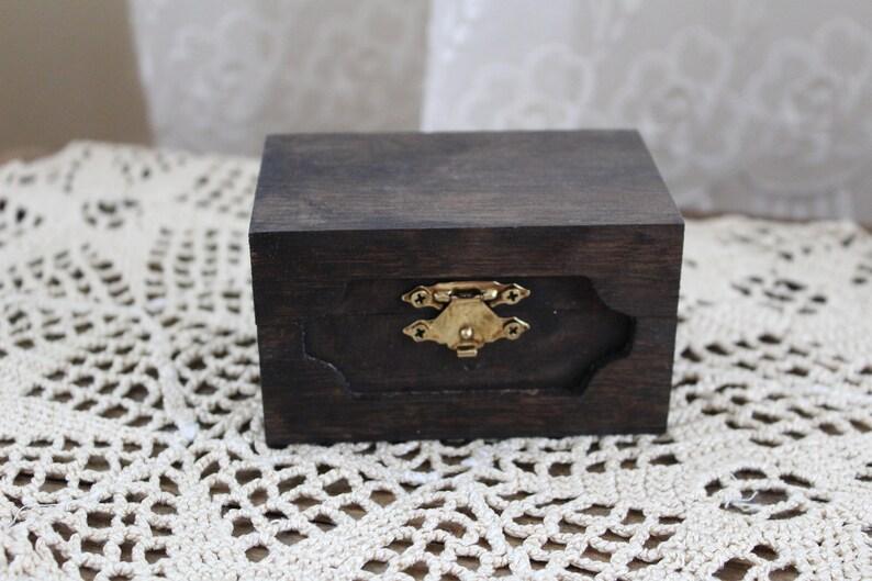 Ring Bearer Box Ring Bearer Box Rustic Ring Bearer Box Vintage Ring Bearer Box and Mrs Mr