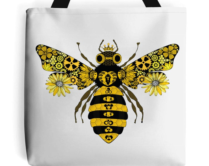 Steampunk Queen Bee Tote Bag | Beach Bag