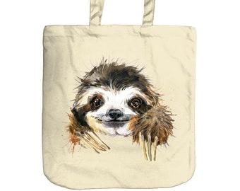 Sloth Tote Bag   Beach Bag