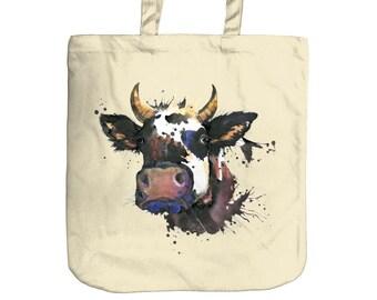 Cow Tote Bag   Beach Bag
