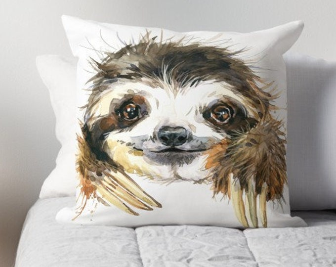 Featured listing image: Sloth Cushion | Pillow