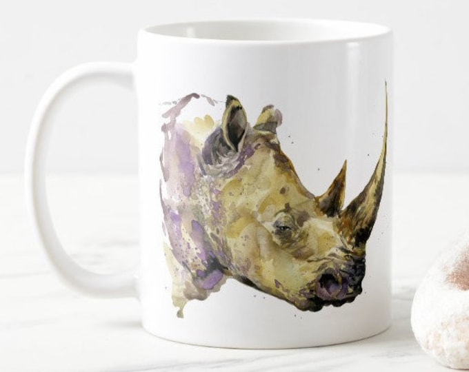 Rhinoceros Coffee Ceramic Mug