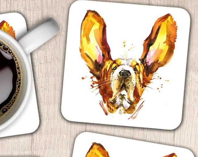 Set of 4 Basset Hound Coasters