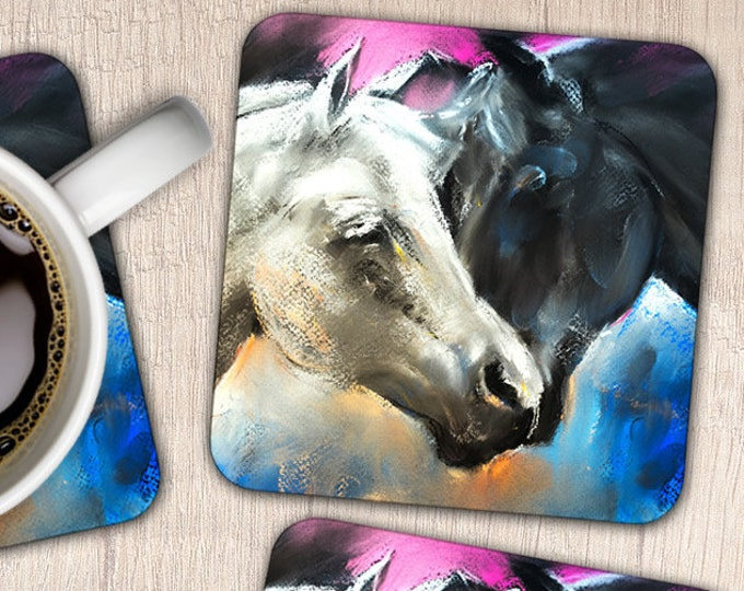 Set of 4 Arab Horses Coasters