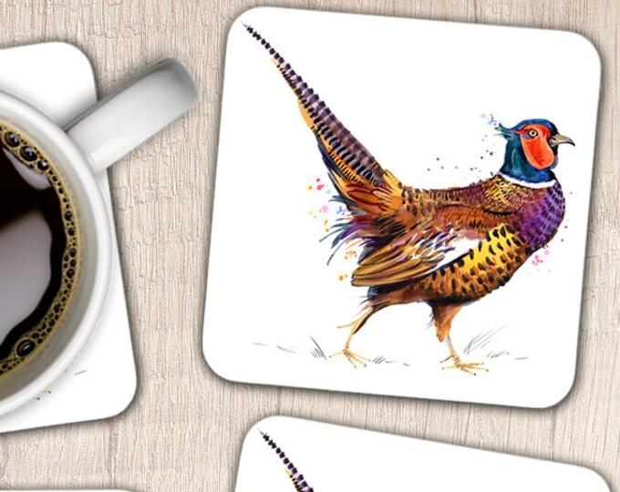 Set of 4 Pheasant Coasters