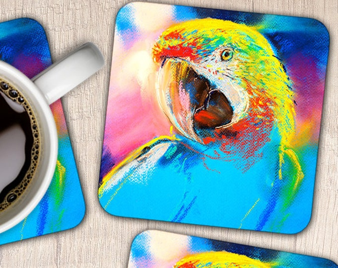 Set of 4 Parrot Coasters