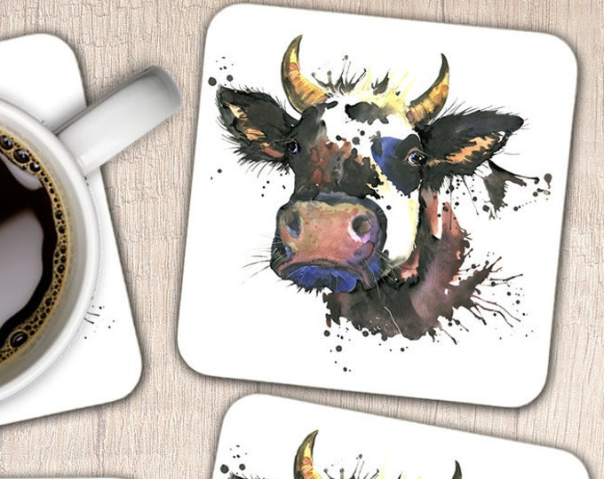 Set of 4 Cow Coasters