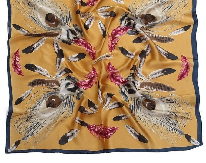 Feathers Scarf | Neck and Hair Scarf