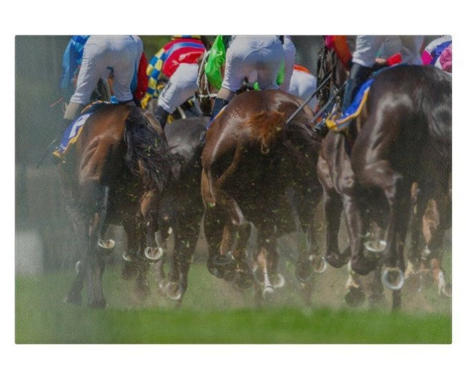 Horse Racing Glass Chopping Board | Worktop Saver