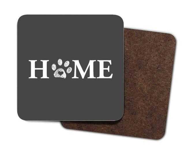 Pawprint Home Coasters -