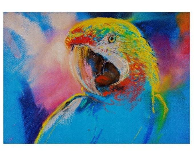 Parrot Glass Chopping Board | Worktop Saver