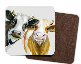 Set of 4 Cows Coasters