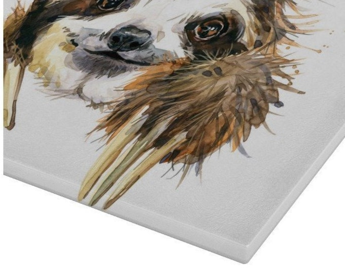 Sloth Glass Chopping Board | Worktop Saver