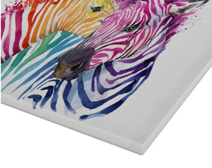 Zebra Glass Chopping Board | Worktop Saver