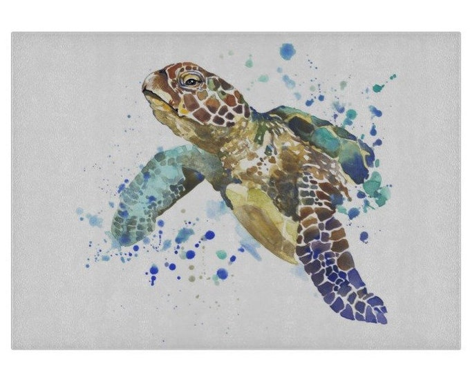 Turtle Glass Chopping Board | Worktop Saver