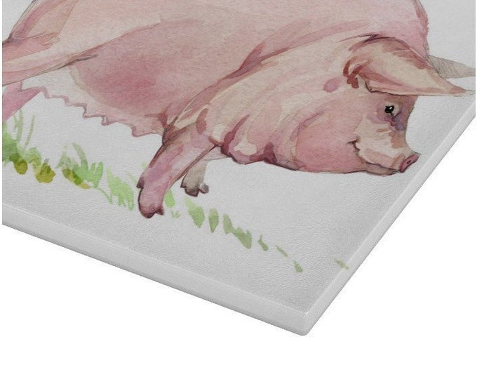 Pig Glass Chopping Board | Worktop Saver