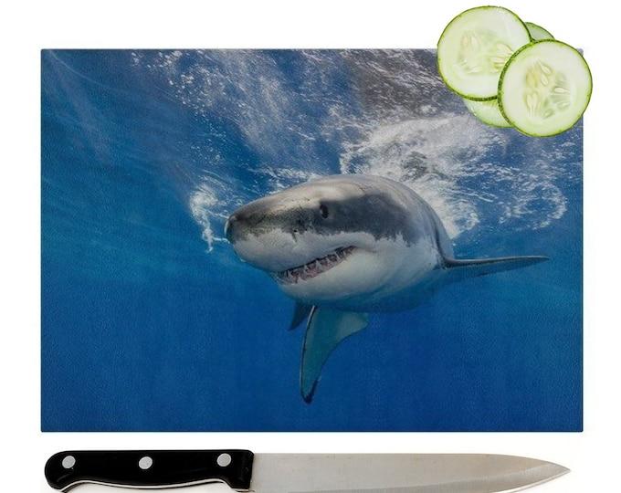 Shark Glass Chopping Board | Worktop Saver