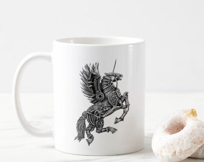 Steampunk Winged Unicorn Mug