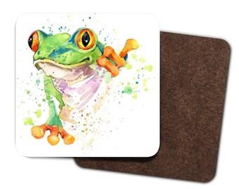 Set of 4 Frog Coasters