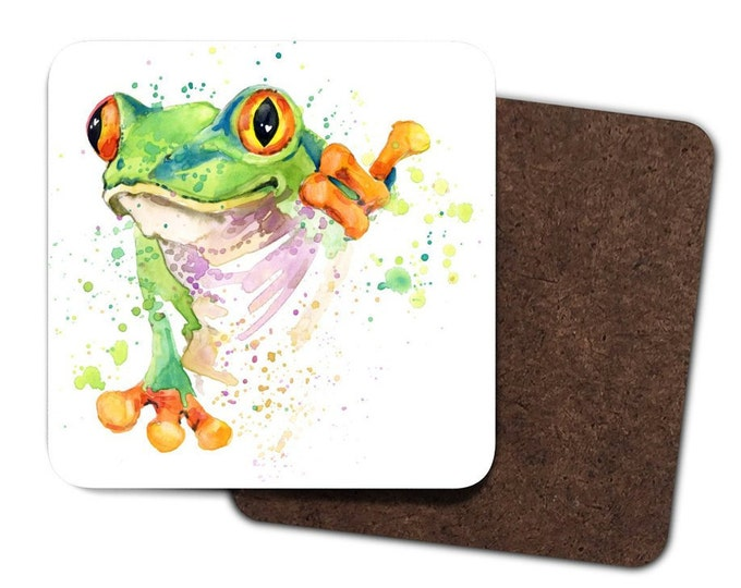Set of 4 Frog Coasters