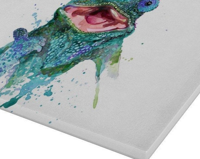 Iguana Glass Chopping Board | Worktop Saver