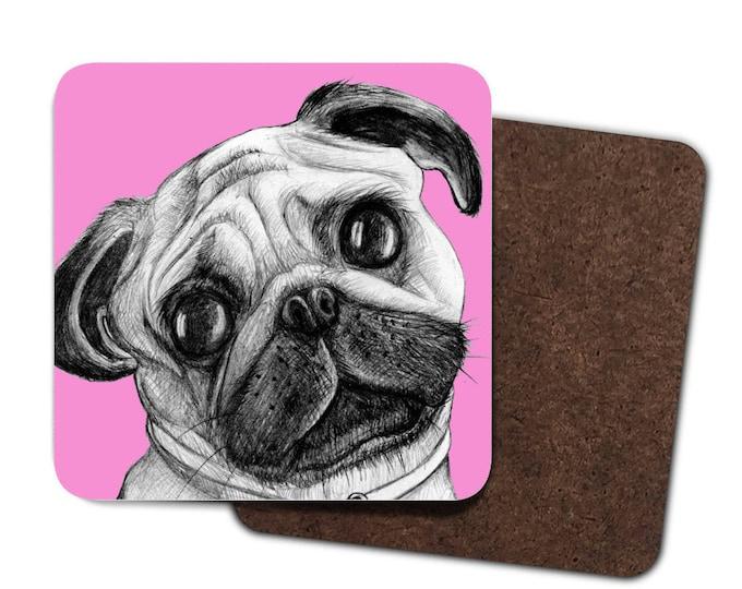 Set of 4 Pug Coasters