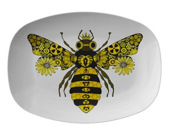 Steampunk Queen Bee Serving Platter