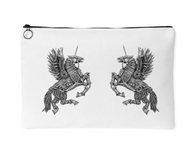 Steampunk Winged Unicorn Pouch | Travel Purse
