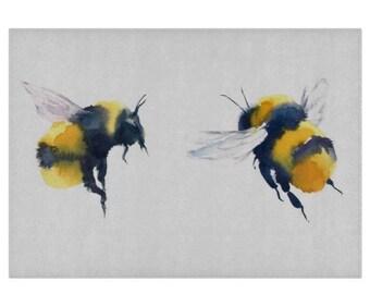 Bee Glass Chopping Board   Worktop Saver