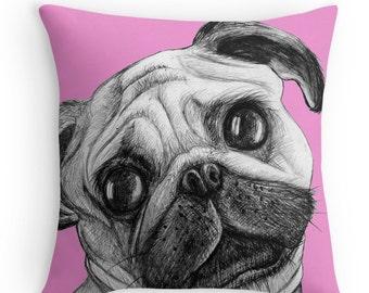 Pug Cushion   Pillow