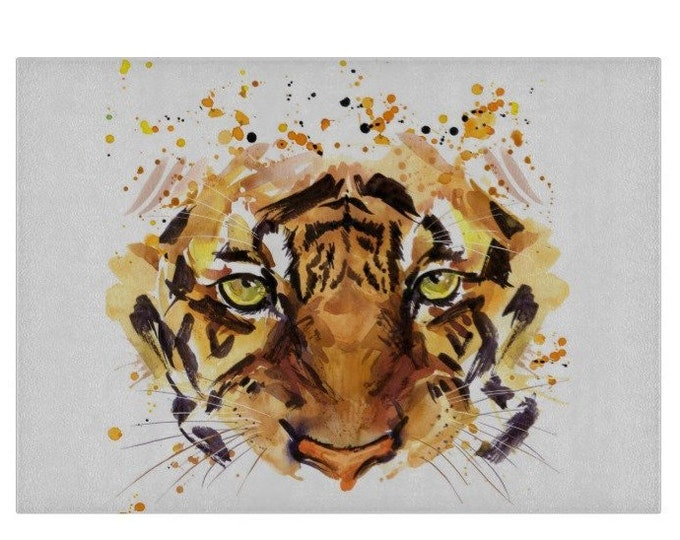 Tiger Glass Chopping Board | Worktop Saver