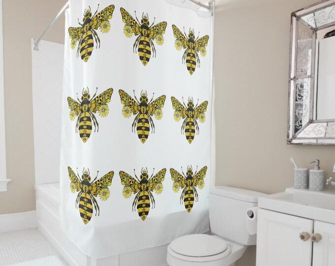Steampunk Queen Bee Shower Curtain