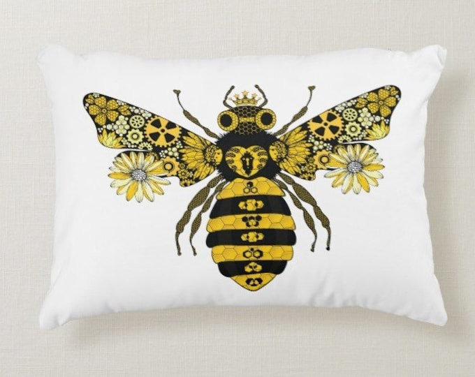 Steampunk Queen Bee Cushion | Throw Pillow
