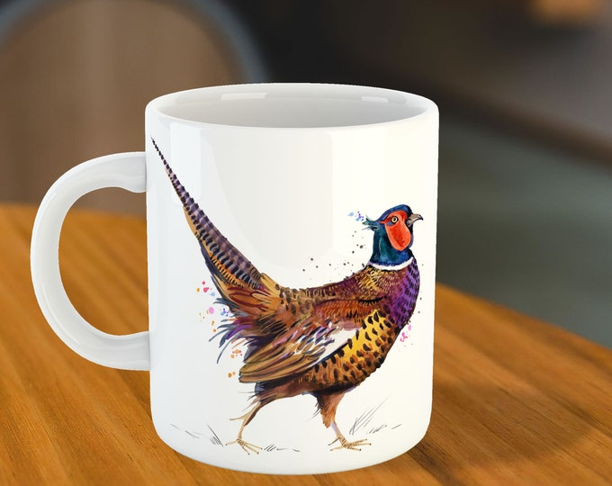 Featured listing image: Pheasant Ceramic Mug   Father's Day Gift Idea