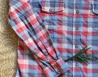 honey, please - ladies flannel shirt XL
