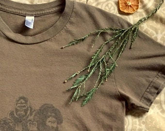 patched primates - girls large t-shirt