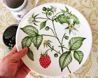 raspberry vignette - set of 2 plates
