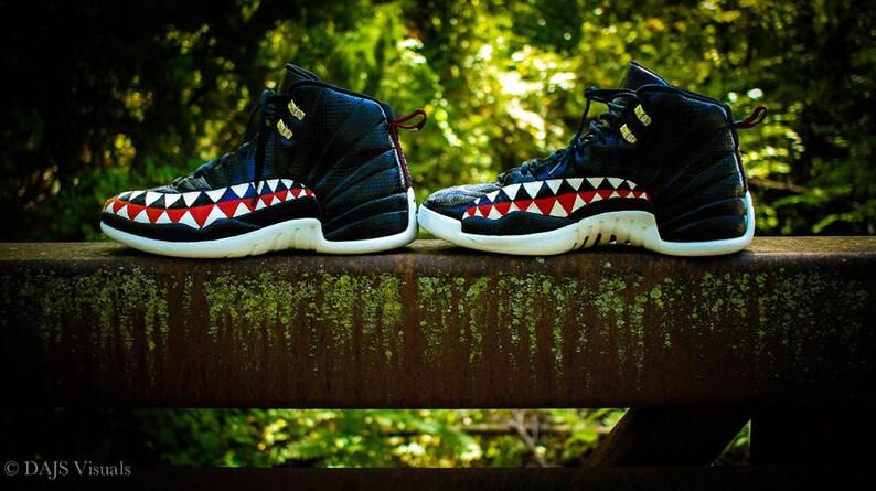 Bape Shark Teeth Custom Jordan 12  180f3fe29
