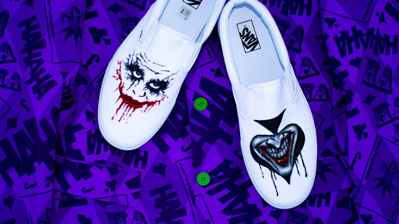 The Joker, Heath Ledger Custom Vans Shoes