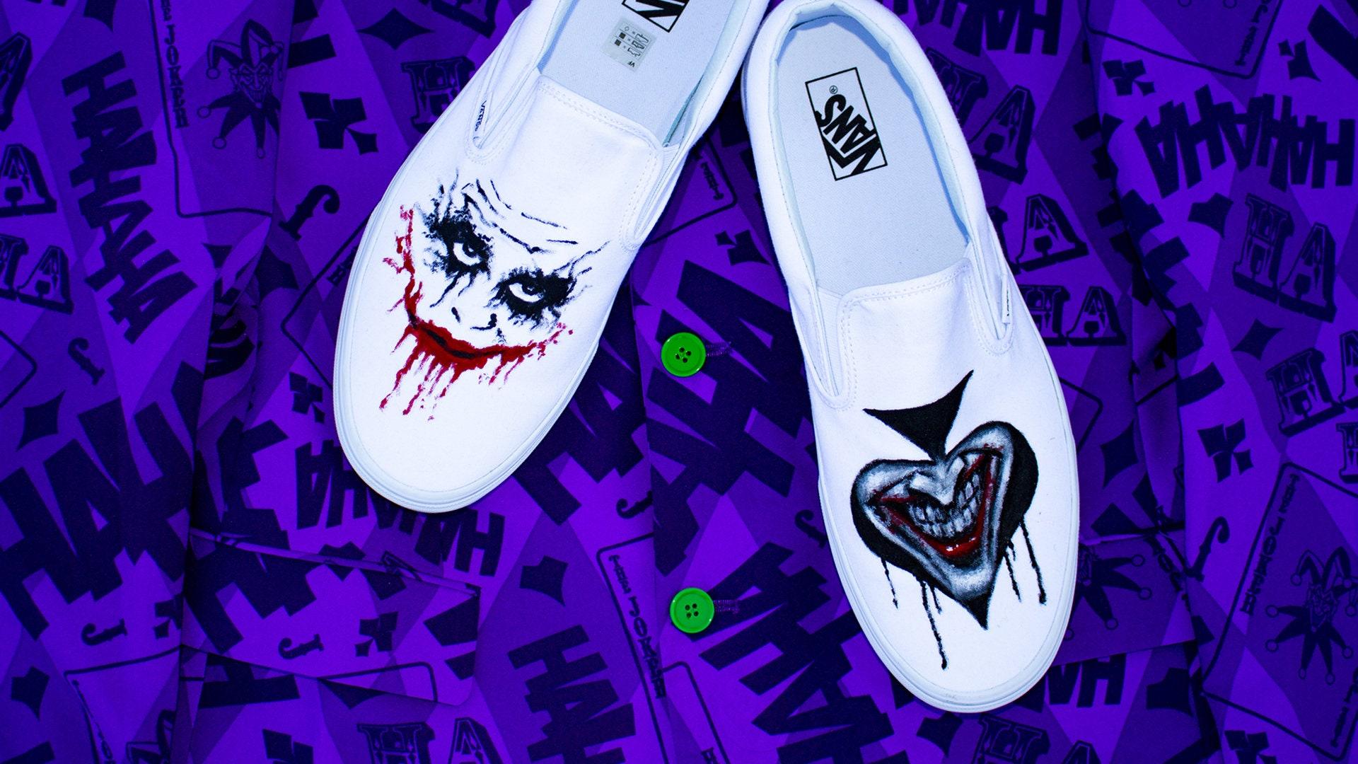 c53747727cec51 The joker heath ledger custom vans shoes etsy jpg 1920x1080 Custom joker  shoes vans