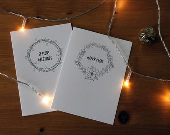 Inked Christmas Cards