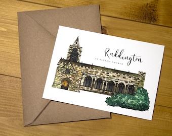 Ruddington St Peters Church Postcard