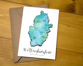 Nottinghamshire County Postcard Print