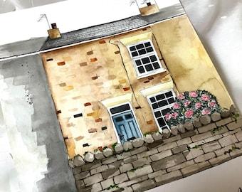 Custom House Portrait - A4 or A5 Watercolour
