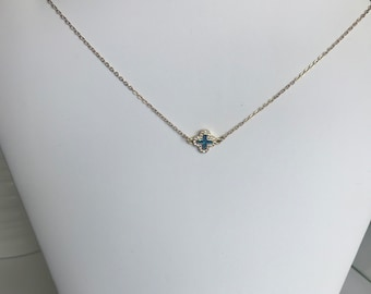 14k gold filled necklace with cross pendant